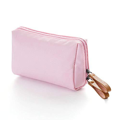 Bottiglie Aolvo beauty cerniera trucco organizer borsa e Nailon multifunzione viaggio rosa con storage separatori da per dqR1q7