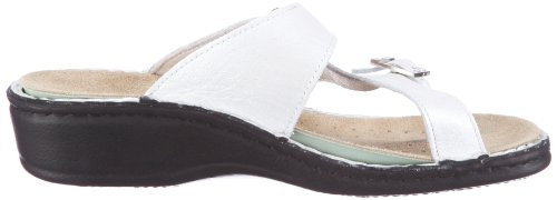 Blanco 022769 Weiss Herrmann Cuero Para Mujer Collection Hans Zuecos 20 De Ovfwgxppq