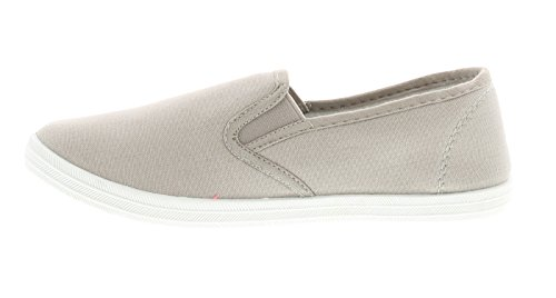 NEU Damen / Damen Grau Slipper Mode Pumps / Schuhe - grau - UK Größen 3-8 - grau, 37