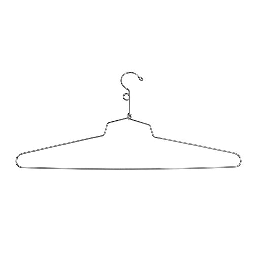 Econoco Commercial Blouse and Dress Hanger with Loop Hook, Steel, 19'' (Pack of 100) by Econoco (Image #1)
