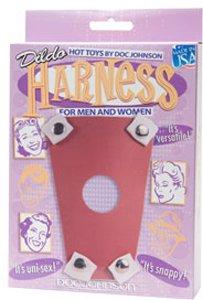 Rubber Dildo Harness