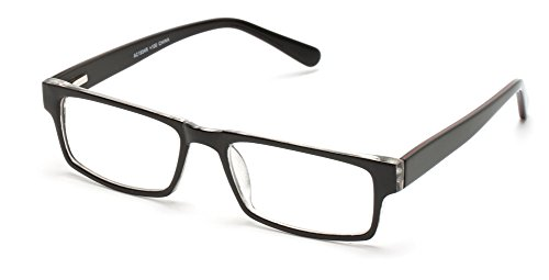 Readers.com The Holland +1.75 Black Optical Quality in Acetate Material Rectangle Reading - Acetate Material