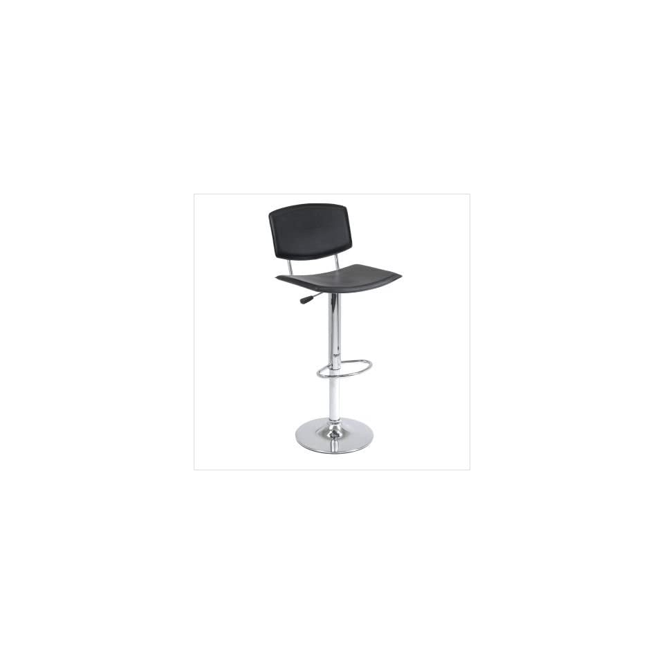 Winsome Spectrum Air Lift Black Stool with Curved Seat (93140)