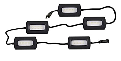 StonePoint LED Lighting Ultra Bright 50 Foot Ultra Bright Linkable Lights Job Site Lighting – Non-Breakable Weatherproof Industrial Grade Full Coverage Utility 55 Watts 5000 Lumens