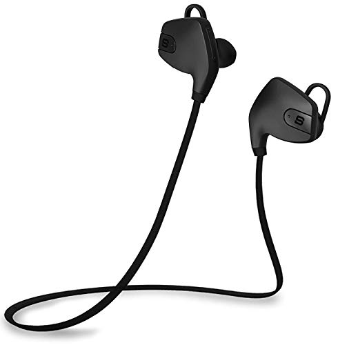SoundBot SB565 BLK/BLK Stereo Bluetooth 4.0 Wireless Headset  Black