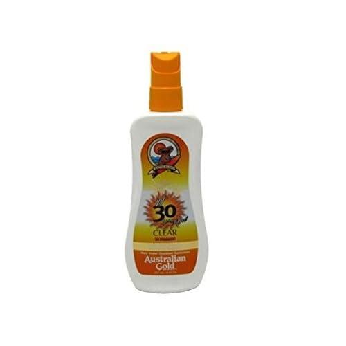 Australian Gold SPF 30+ Spray Gel, 8 Oz + FREE Old Spice Deadlock Spiking Glue, Travel Size, .84 Oz