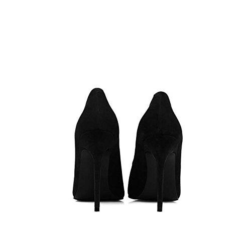 Nphm Vrouw Zwart Satijnen Hoge Hakken Fashion Sexy Fijne Hak Forensic Pumps Huwelijk Partij, Zwart-10cm-eu: 40 / Uk: 7