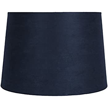 Urbanest french drum with white trim 12x14x10 lampshade navy blue urbanest navy blue suede drum lampshade 10x12x85 spider fitter aloadofball Gallery