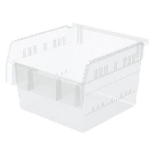 Akro-Mils 30800 ShelfMax 8 Plastic Nesting Shelf Bin Box, 12-Inch x 11-Inch x 8-Inch, Clear, 4-Pack by Akro-Mils