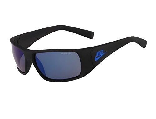 Nike Grey with Flash Lens Grind R Sunglasses, Matte Black/Military - Sunglasses Nike