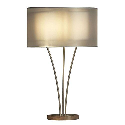 Nova Lighting Teton Table Lamp, Silver/White ()