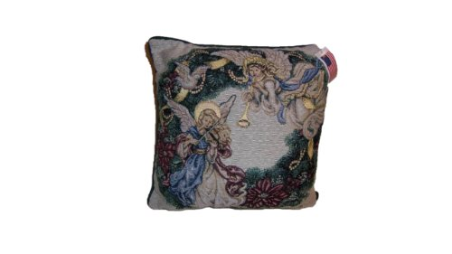 Manual Woodworkers & Weavers Angel Wreath Tapestry Pillow by Lena Lui (Angels Two Tapestry)
