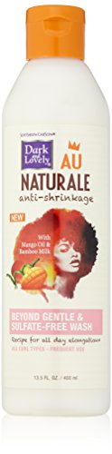 Dark and Lovely Au Natural Anti-Shrinkage Beyond Gentle and Sulfate Free Wash, 13.5 Fluid Ounce