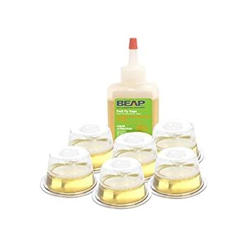 BEAPCO  10036 - 6 Pack Fruit Fly Trap  -Drop Ins
