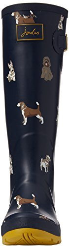 Joules Wellyprint - Botas de lluvia Mujer Blue (French Navy Fido Dog)