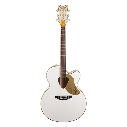 Gretsch 5022CWFE Rancher Falcon Jumbo Cutaway - White, Acoustic/Electric