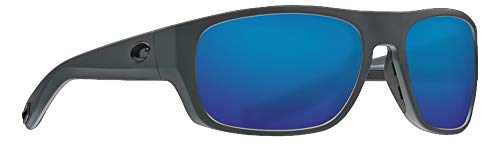 Costa Del Mar Tico Sunglasses-Matte Black-Blue Mirror 580P