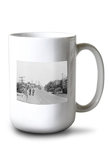 Lantern Press Queen Anne Boulevard (Seattle) Photograph (15oz White Ceramic Mug)