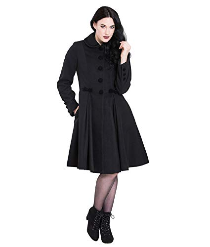 Olivia Bunny Hell 22 Noir Noeud Vintage Style UK 4XL Manteau apOWOq7c6