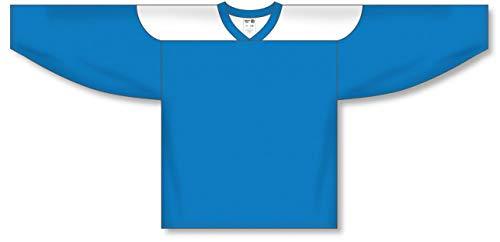 (Pro Blue, White League Plain Blank Hockey Jerseys)