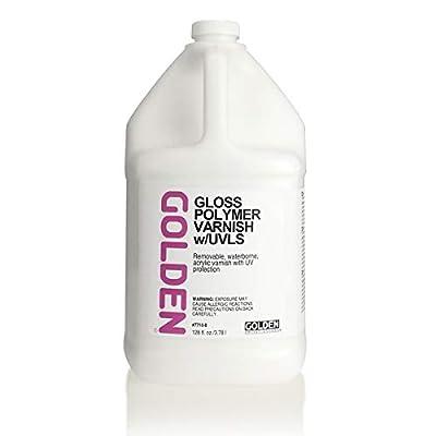 Golden Polymer Gloss Varnish with UVLS - 128 oz Bottle