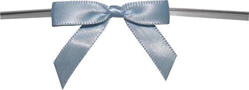 BAYWIND LTD; Small Twist Tie Bows (50pc, Light Blue) by Baywind Limited