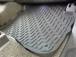 Mats4Less OCP-MBW164G Custom Fit All Weather Rubber Gray Floor Mats - 4 pc Set - Fits 2006-2011 Mercedes M Class (W164)