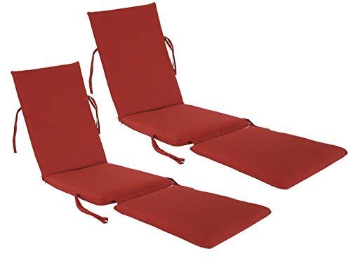 kingrattan.com Made in USA Steamer Chair Cushion Sunbrella Canvas Henna (2-Pack) ()