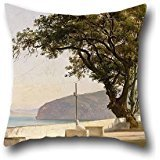 - Throw Pillow Case 16 X 16 Inches / 40 By 40 Cm(two Sides) Nice Choice For Gril Friend,living Room,drawing Room,son,shop Oil Painting Thomas Fearnley - Terrace With Oak, Sorrento