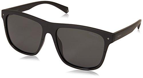 Polaroid Sunglasses Men's PLD 6041/s Polarized Rectangular Sunglasses, Black, 56 ()