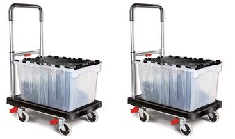 Magna Cart Flatform 300 lb Capacity Four Wheel Folding Platform Truck (2-(Pack)) ()