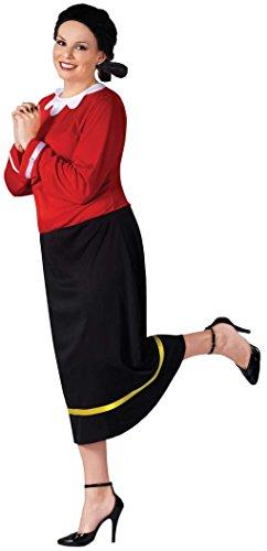 [Olive Oyl Adult Costume (Plus)] (Olive And Popeye Halloween Costume)
