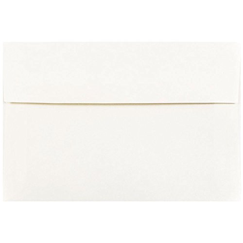 - JAM PAPER A8 Parchment Invitation Envelopes - 5 1/2 x 8 1/8 - White Recycled - 25/Pack