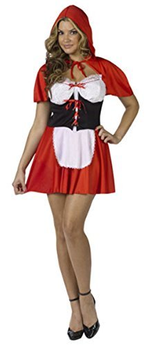 Ladies Sexy Little Red Riding Hood Halloween Party Fancy Dress Costume Outfit UK 8-10]()