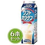 北海道限定 雪印メグミルク ソフトカツゲン 1000ml×6本セット
