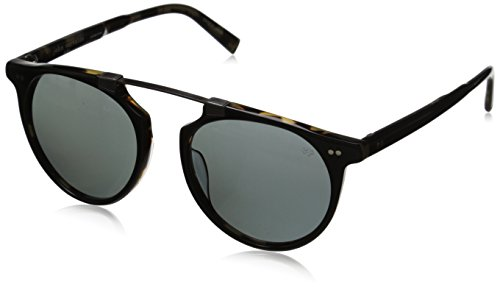 John Varvatos Men's V602 Polarized Round Sunglasses, Black & Tortoise UF, 52 - Order Sunglasses Custom