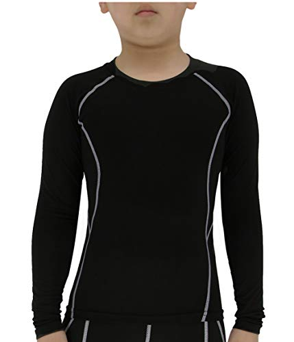 Girls Sleeve Long Thermal Top (Lanbaosi Boys&Girls Long Sleeve Compression Soccer Practice T-Shirt)