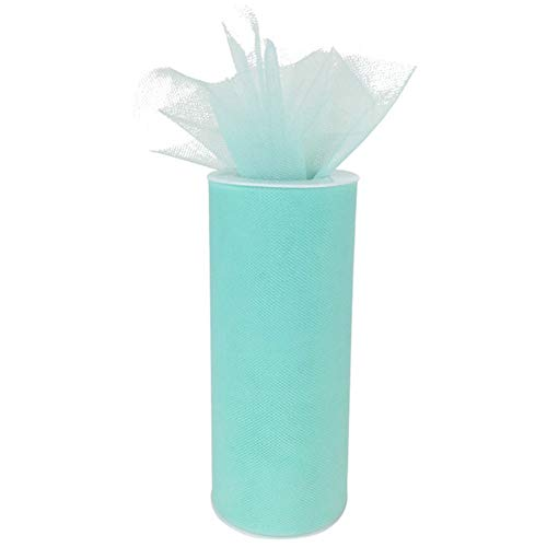 (Just Artifacts - Tulle Fabric Roll - 6in width/25yrd Length - Seafoam)