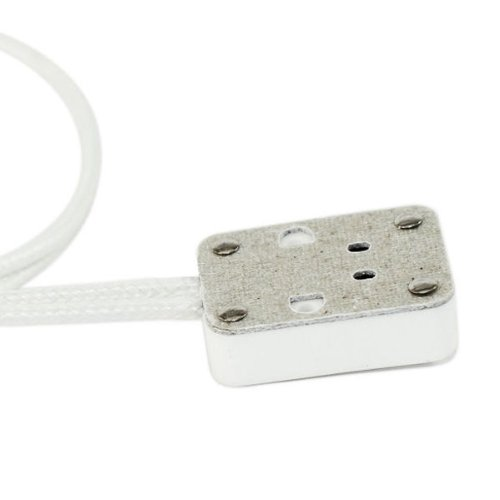 SYLVANIA 69021 - TP120 - Ceramic Socket - 12 in. Leads - 18 AWG - 225 Deg. C - Use with Halogen Lamps