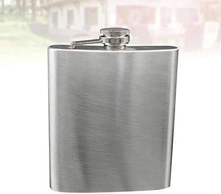UPKOCH Frasco de Cadera de 500 Ml Matraz de Bolsillo de Acero Inoxidable para Hombres Mujeres Adultas Licor Botella de Whisky Plata
