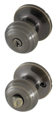 - Honeywell 8101101 Classic Entry Door Knob, Antique Brass