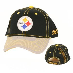 (Reebok Pittsburgh Steelers NFL Team Apparel Stitches Adjustable Hat)