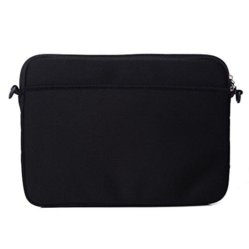 Kroo Tablet/Laptop Hülle Sleeve Case mit Schultergurt für Archos 80Helium 4G rosa rose schwarz Xzu9m