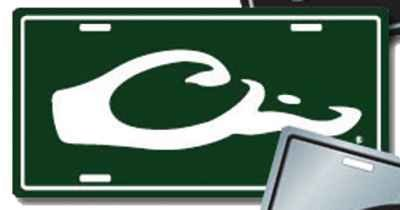 Drake License Plate Logo Green