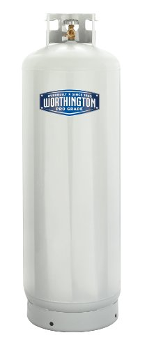 Worthington 303953 100-Pound Steel Propane Cylinder With 10% Valve And Collar ()