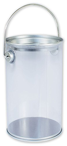 (Solid Color Specialty & Event Boxes - Silver Clear Pails, 3