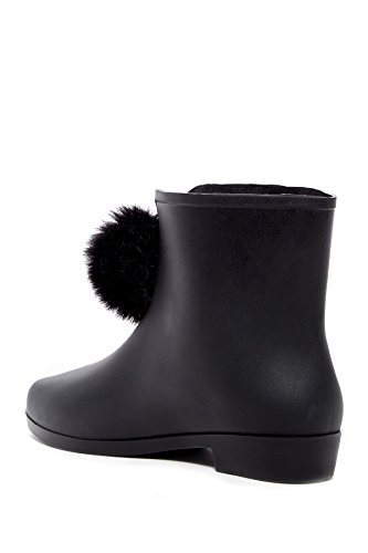Picabow P Ankle Dizzy Toe Rubber Black Rainboots Womens Almond nHExxP56Y