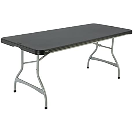 Lifetime Products 280350 Commercial Stacking Folding Table 6 Black