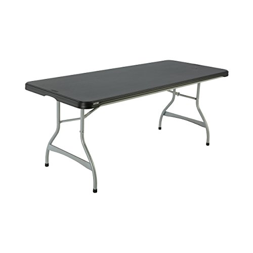 Lifetime Products 280350 Commercial Stacking Folding Table, 6', Black ()