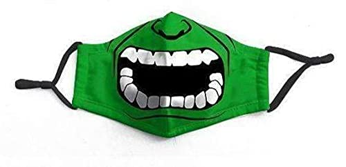 Bruce Banner Superhero Green Incredible Hulk Smash Face Mask Facemask Protection Kids Boys Unisex Adult Mens (Kids)